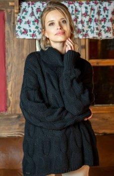Fobya F616 sweter czarny