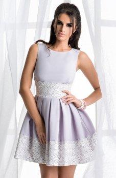 Bicotone 2120-03 sukienka szara