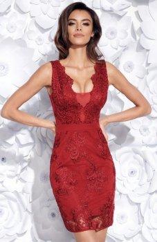 Bicotone 2163-10 sukienka bordowa