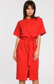 BE B062 sukienka czerwona