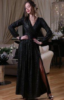 *Roco 0227 sukienka czarno-srebrna