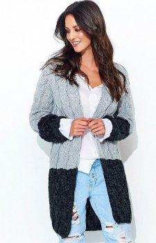 Numinou S37 sweter szaro-czarny