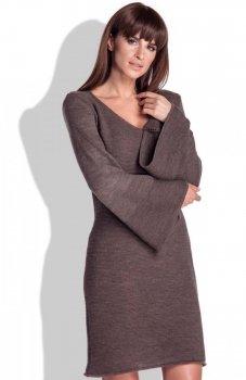 FIMFI I154 sukienka brązowa