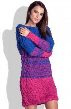FIMFI I152 sukienka amarantowa