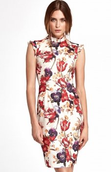 Nife S108 sukienka w kwiaty