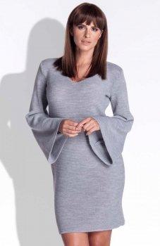 FIMFI I154 sukienka szara