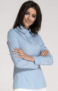Klasyczna Koszula z Długim Rękawem błękitna NA1015