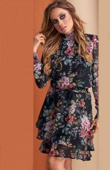 Lola sukienka w kwiaty czarna