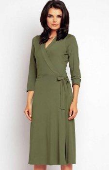 Awama A147 sukienka oliwkowa