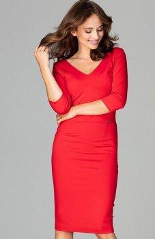 Lenitif K476 sukienka czerwona