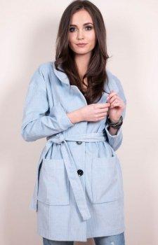 Lekki wiosenny płaszcz niebieski 0010 Roco