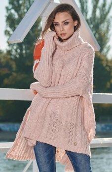 *Moherowy sweter oversize LS215 Lemoniade