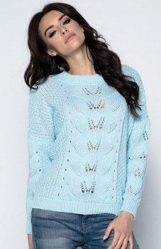 Fobya F482 sweter błękitny