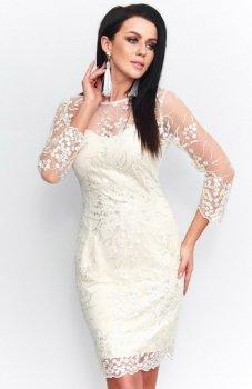 Roco 199 sukienka koronkowa ecru