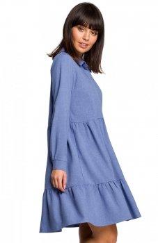 BE B110 sukienka niebieska