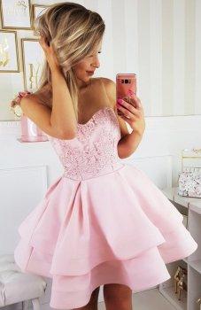 Bicotone 2138-12 sukienka pudrowy róż