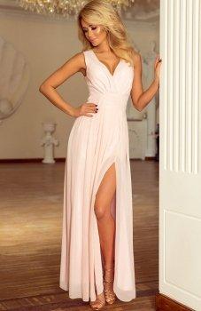 Numoco 166-4 sukienka brzoskwiniowa