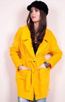 Lekki wiosenny płaszcz 0010 Roco musztardowy