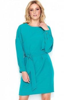 *Makadamia M442 sukienka turkusowa