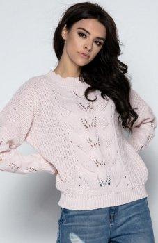 Fobya F482 sweter pudrowy róż