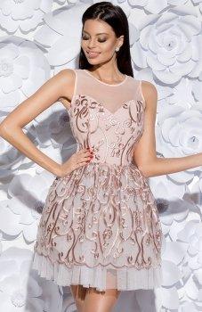 Bicotone 2129-12 sukienka różowa