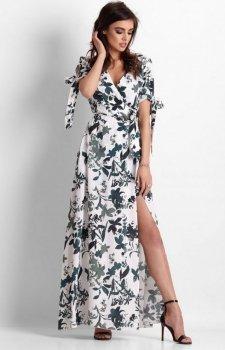*Długa sukienka w kwiaty Milagros
