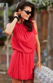 Zwiewna letnia sukienka mini A284