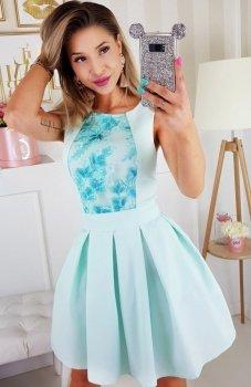 Bicotone 2145-18 sukienka miętowa