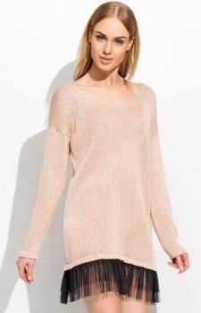 Makadamia S36 sweter łososiowy