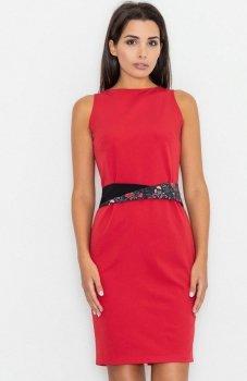 Figl M534 sukienka czerwona