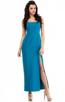 Moe MOE202 sukienka turkusowa