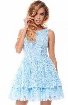 Bicotone 2140-39 sukienka błękitna