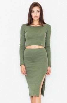 Figl M484 sukienka zielona