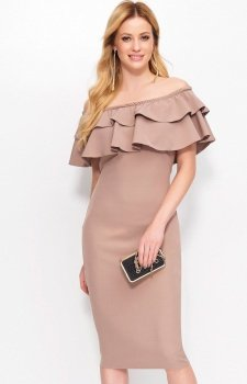 Makadamia M403 sukienka cappucino