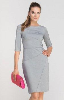 Lanti SUK146 sukienka szara