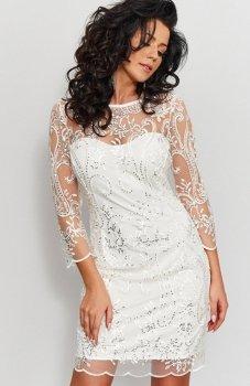 Roco 0201 sukienka koronkowa biała