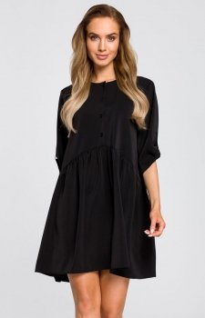 Luźna sukienka czarna M427