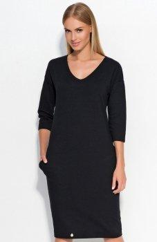 Makadamia M318 sukienka czarna