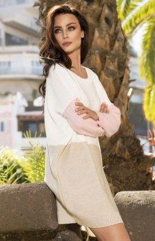 Lemoniade LS203 sweter ecru-beż