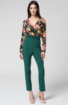 Mosali M032 spodnie z wysokim stanem zielone