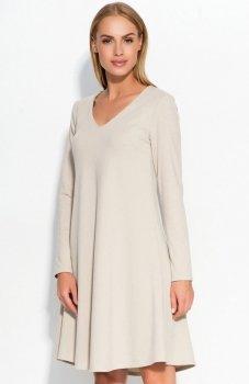 Makadamia M326 sukienka beżowa