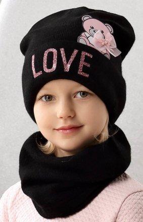 AJS 42-471 czapka i komin dziewczęca