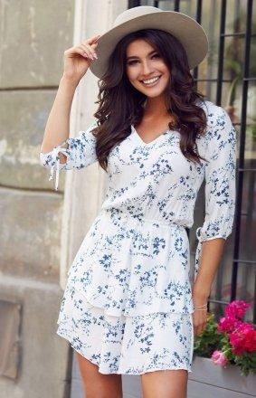Mini sukienka w kwiaty Sara