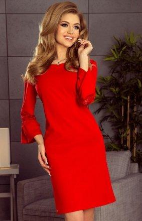 Numoco 190-3 Margaret sukienka czerwona