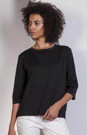 Luźna bluzka - frak czarna BLU140