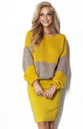 FIMFI I302 sweter żółty