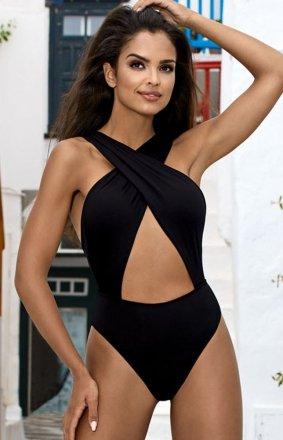 *Czarny seksowny strój kąpielowy L4372/0