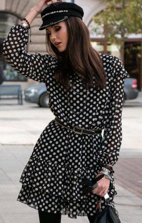 Szyfonowa sukienka w groszki 259/D89