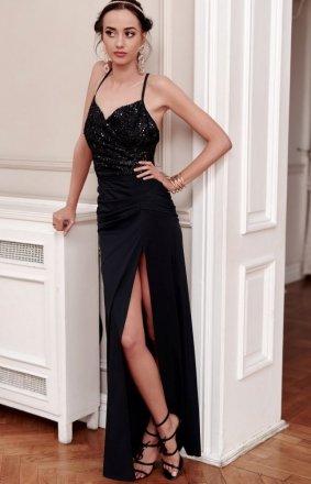 Elegancka sukienka na ramiączkach 0269