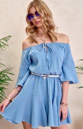 Urocza sukienka hiszpanka 0333 błękitna